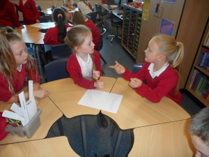 We discussed what we thought our play should be about. It needed to be something that other children could relate to.
