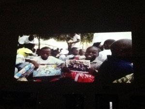 We also showed them a video of children opening their shoeboxes so they could see just how much it means.