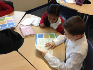 In our reading pairs, we listen to each read and offer our friends support and advice.